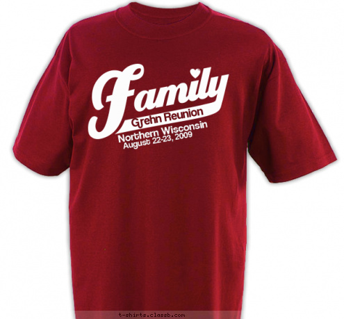 custom t shirt design grehn family reunion