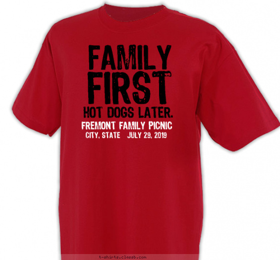 Family First, Dogs Later Shirt T-shirt Design