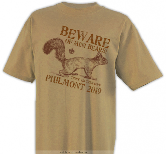 SP6616 Beware of Mini Bears! T-shirt Design
