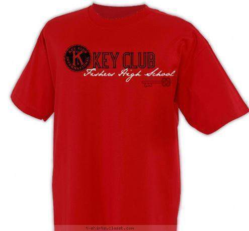 T-shirt Design FHS key club shirt