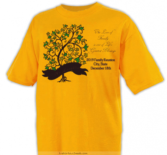 Family Tree- Love Shirt T-shirt Design