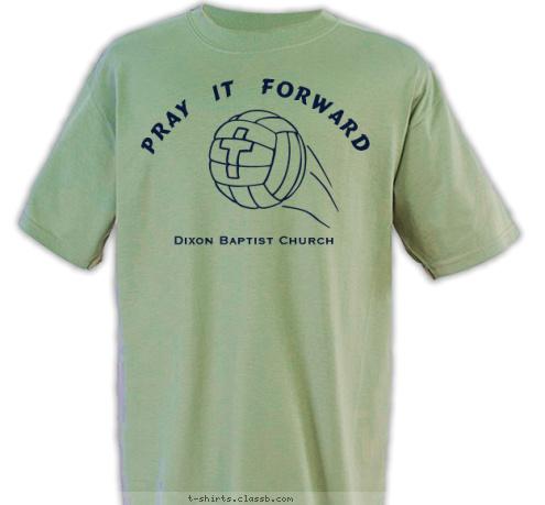T-shirt Design Church Volleyball
