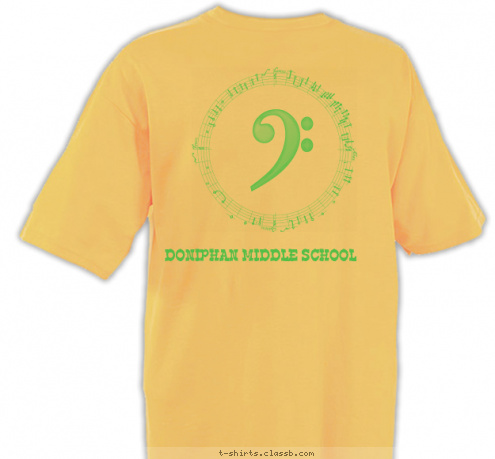 custom t shirt design doniphan middle school choir shirt