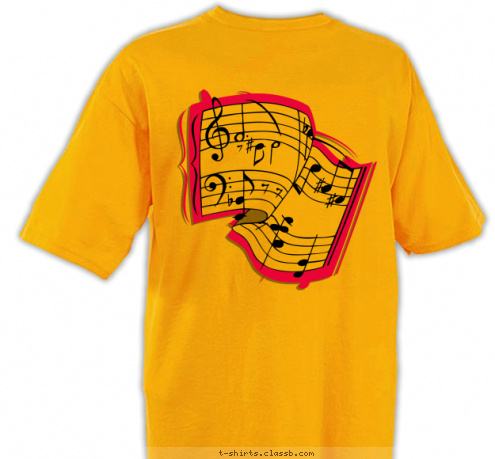 custom t shirt design doniphan middle school choir shirt