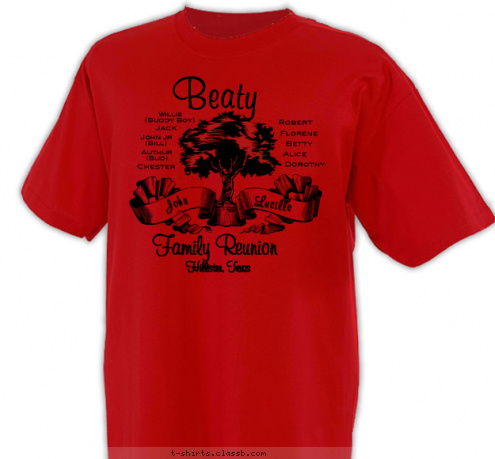 Custom T Shirt Design Beaty Family Reunion 2011