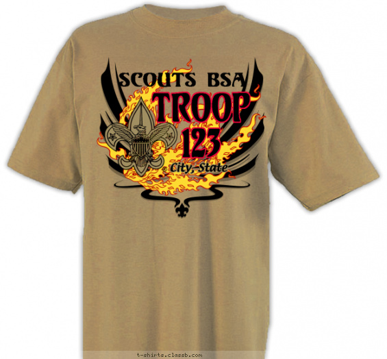Troop Forge in Fire Shirt T-shirt Design