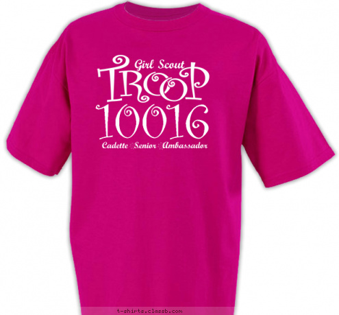 Custom T-shirt Design Troop 10016 T