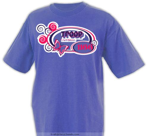 custom t shirt design troop 1166 girl scouts