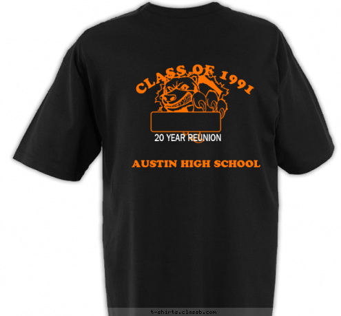 see custom t shirt design ahs class reunion choice 1 class of 1991