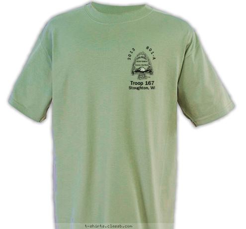Custom t shirt design 2013 philmont trek front and back for Custom photo t shirts front and back