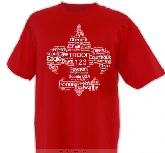 Fleur-De-Lis of Words T-shirt Design