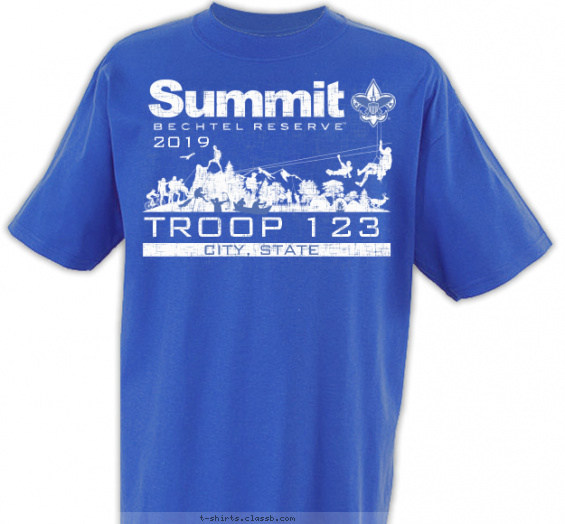 Summit Zip Line T-shirt Design