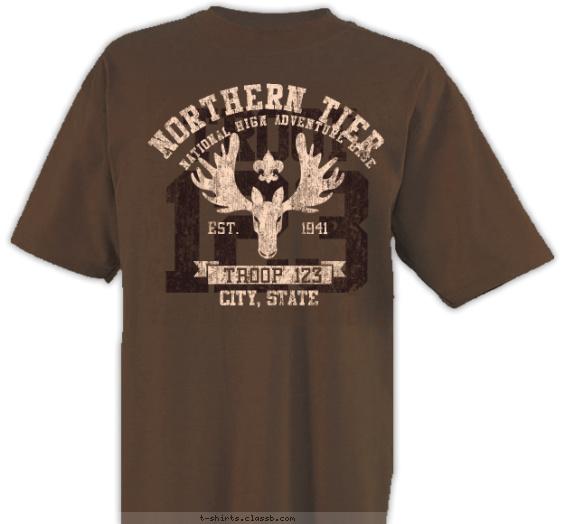 Northern Tier Moose Head T-shirt Design