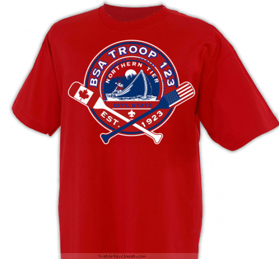 Northern Tier Canada & USA Flag T-shirt Design