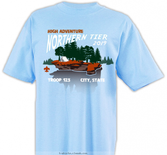 Northern Tier Island Camping T-shirt Design